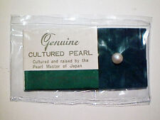 VINTAGE Lot of 10x CULTURED WHITE ROUND DRILLED 6mm PEARLS From AGO BAY JAPAN #1