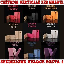 Custodia in ecopelle verticale con interno in TPU x cellulari ,smartphone Huawei