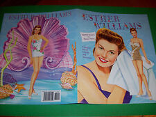 Beautiful ESTHER WILLIAMS Movie Star Paper Doll Book by Marilyn Henry and PSP