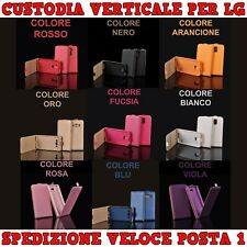 Custodia in ecopelle verticale con interno in TPU x cellulari , smartphone LG