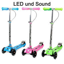 FunTomia LED Trottinette Scooter Cruiser Coup de pied Jump Trotinette in 3