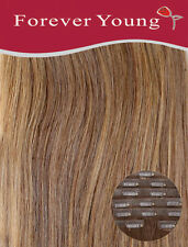 Invisible Seamless Caramel Brown Clip in Human Hair Extensions Forever Young