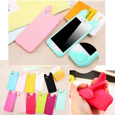 Cute 3D Cartoon Cat Ear Soft Rubber Back Case Skin For Apple iPhone 4s 5 5s 5c 6