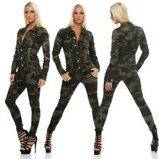 10936 Jumpsuit Ladies Overalls Leisure suit Camouflage Onesie Army-Style