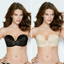 Wonderbra Ultimate Strapless Refined Glamour Black or Ivory Lace Bra WM