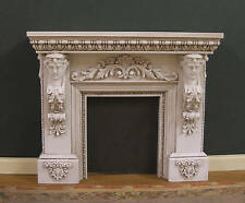 FIREPLACE~  Handcrafted ~ Distressed ~ Dollhouse  ~ 1:12 scale ~ Room Box