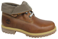 Timberland Sundown Roll Top Brown Leather Mens Lace Up Boots A17M1 D84