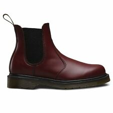 Dr.Martens 2976 Smooth Cherry Mens Chelsea Ankle Boots Size 6-12 UK Leather