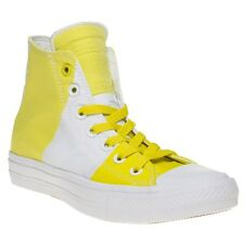 New Womens Converse Multi Yellow Chuck Taylor All Star II High Textile Trainers