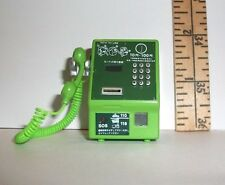 FASHION DOLL MINIATURE RE-MENT 1/6 SCALE GREEN PAY PHONE TELEPHONE ACCESSORY
