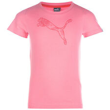 Junior Girls Puma Fun Graphic T-Shirt In Pink From Get The Label