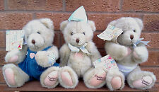 CHERISHED TEDDIES - SELECTION OF PLUSH TEDDY BEARS WITH MOVEABLE JOINTS.