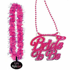 Hen Night Pink Bride To Be Necklace Girls Night Out Leis Accessory Party Pack
