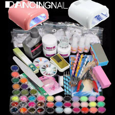 36W 220V Kit Acrilico Uñas Manicura Pedicura Lámpara Completo Nail Art Gel UV