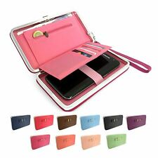 Ladies Fashion Long Wallet Purse Card Phone Holder Clutch Button Handbag Case