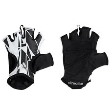 Adidas Womens Graphic Training Fitness Gloves Black White AB0999 DD3