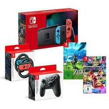 Nintendo Switch Konsole Bundle neon Mario Kart 8 Deluxe Zelda Breath of the Wild
