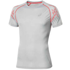 Asics Speed Short Sleeve Fitness T-shirt Mens Running Top Grey 110477 0774 DD104