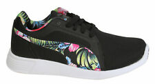 Puma ST Evo Grafic Floral Pattern Lace Up Black Mens Trainers 362212 01 M1