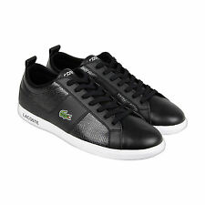 Lacoste Observe CA Mens Black Leather Lace Up Sneakers Shoes