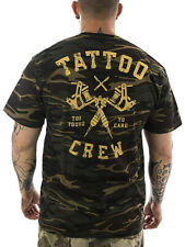 Badly Männer T-Shirt Tattoo Crew camouflage -NEU