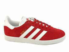 ADIDAS Gazelle sneakers scamosciate lacci uomo PELLE SCARLET RED ROSSO S76228
