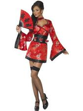 Ladies Fancy Dress Sexy Fever Vodka Geisha Girl Costume