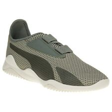 New Mens Puma Green Khaki Mostro Breathe Textile Trainers