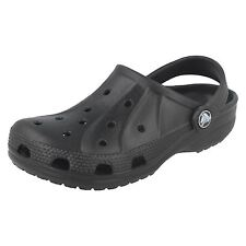 Childrens Unisex Black Crocs Slip On Clog Sandal Ralen Clog K
