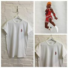 Actual Fact JORDAN Slam Dunk bordado BALONCESTO Supreme Blanco Camiseta