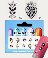 Nagelsticker Elegante GEM NAIL Sticker mit Strass Nail Art Nail sticker