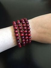 Multilayer Wrap Wristband Cuff 108 Lucky Wooden beads Bracelet Bangle