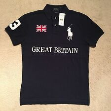 Polo Ralph Lauren Custom Fit Great Britain Polo - Navy Size S - XXL RRP: £115.00