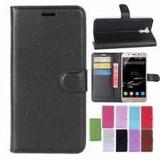 PU Leather Flip Stand Card Slots Case Cover Skin For Blackview P2 Smartphone