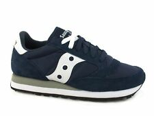 SAUCONY Jazz Original sneakers lacci PELLE NAVY WHITE BLU S2044-316 inverno 2018