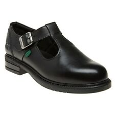 New Infants Kickers Black Lach T-Bar Leather Shoes Buckle