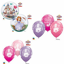 Disney Sofia the First QUALATEX Latex & BOLLE Palloncini (bambini compleanno/