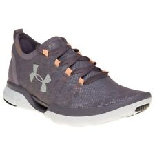 New Womens Under Armour Purple Charged Coolswitch Run Nylon Trainers Running