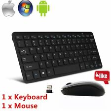 Mini Thin 2.4G Wireless Keyboard and Optical Mouse Combo Kit for Desktop lot XH
