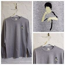 Actual Fact BRUCE LEE bordado gris Artes Marciales manga larga camiseta