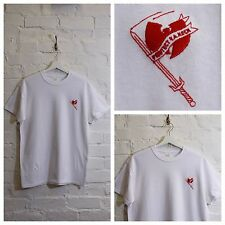 "Actual Fact Wu Tang Clan "" Protect Your Neck "" BIANCO HIP HOP MAGLIETTA T-SHIRT"
