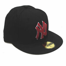 New Era 59fifty NY New York Yankees Felpilla Rojo & Negro Ajustado 5950 Gorra