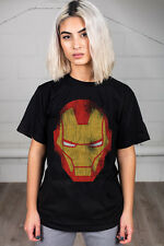 Official VENGADORES IRON MAN Distressed Unisex Camiseta Marvel Dc Comics