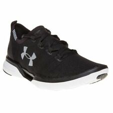 New Womens Under Armour Black Charged Coolswitch Run Nylon Trainers Running Lace