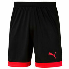 Puma IT evo TRG Touch Mens Black Red Fitness Shorts 654910 51 UA67