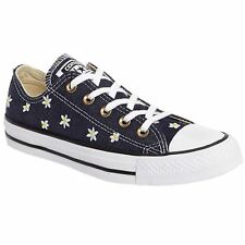 Converse Chuck Taylor All Star Ox Navy Yellow Womens Canvas Low Top Trainers