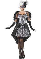 Ladies Halloween Fancy Dress Costume Dark Angel Masquerade Outfit