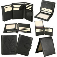 Mens Bifold Genuine Leather RFID Blocking Credit Card Holder ID Security Wallet