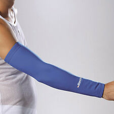 SANTINI 365 ARM WARMERS CYCLING CYCLE ROUBAIX THERMOFLEECE WITH GRIPPER - ROYAL