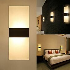 Modern LED Wall Fitting Lighting Sconces Bedroom Bedside Lamp Up Down Cube XH